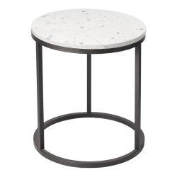 Konferenční stolek s kamennou deskou RGE Bianco, ø 50 cm