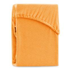 Oranžové elastické prostěradlo na dvoulůžko AmeliaHome Ruby Siesta, 180/200 x 200 cm