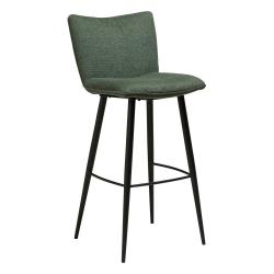 Zelená barová židle s ocelovými nohami DAN-FORM Join, výška 103 cm