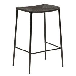 Černá barová židle s ocelovými nohami DAN-FORM Stiletto, výška 68 cm