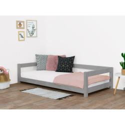 Šedá dětská postel ze smrkového dřeva BenlemiStudy, 90x200cm
