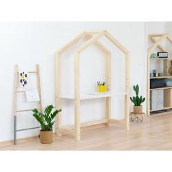 Přírodní dřevěný domečkový stůl s bílou deskou BenlemiStolly, 97x133cm