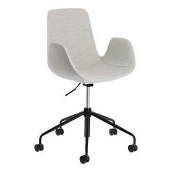 Světle šedá kancelářská židle La Forma Yasmin