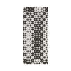 Černo-bílý venkovní koberec Bougari Karo, 80x200cm