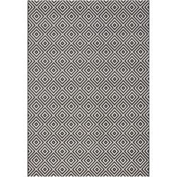 Černo-bílý venkovní koberec Bougari Karo, 200x290cm