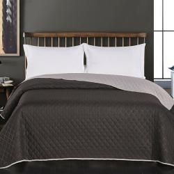 DecoKing Přehoz na postel Axel silver - bla, 220 x 240 cm