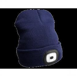 Sixtol Čepice s čelovkou 45 lm, USB, uni, modrá