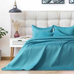 AmeliaHome Přehoz na postel Carmen turquoise, 220 x 240 cm