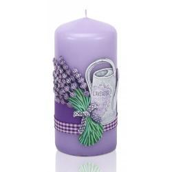 Vonná svíčka Lavender garden válec, 6 x 13 cm