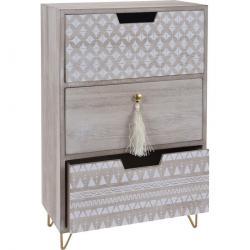 Dekorační skříňka Nordic, 3 zásuvky, 25 x 14 x 39 cm