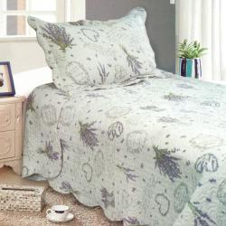 Přehoz na postel Levandule, 140 x 200 cm, 1x 50 x 70 cm, 140 x 200 cm