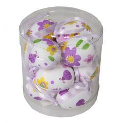 Sada závěsných velikonočních vajíček 4 cm, 12 ks