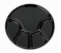 Kela Fondue talíř ANNELI 23 cm, černá