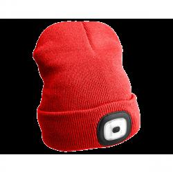 Sixtol Čepice s čelovkou 45 lm, USB, uni, červená