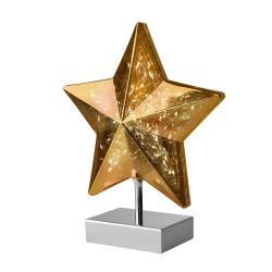 Sompex Stolní lampa Stella tvar hvězdy 27 cm, zlatá