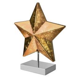Sompex Stolní lampa Stella tvar hvězdy 34 cm, zlatá