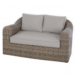 Ratanová lavice pro 2 osoby BORNEO (hnědá)