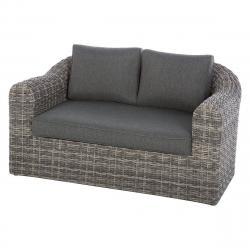 Ratanová lavice pro 2 osoby BORNEO (šedá)