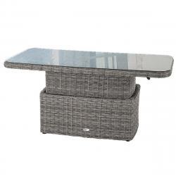 Ratanový stůl jídelní/odkládací BORNEO 150 x 80 cm (šedá)