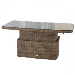 Ratanový stůl jídelní/odkládací BORNEO 150 x 80 cm (hnědá)