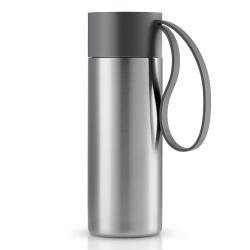Eva Solo Nerezový termohrnek To Go s šedým uzávřem 0,35 l