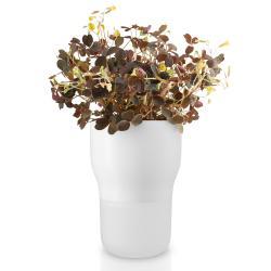 Eva Solo Samozavlažovací keramický květináč křídově bílý Ø 9 cm