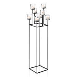 Blomus Stojací svícen pro 8 čajových svíček v nordickém stylu NERO 128 cm