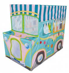 Dětský stan IPLAY Zmrzlinářské auto modré