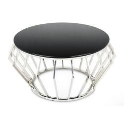 DekorStyle Konferenční stolek NAEL stříbrný/černý