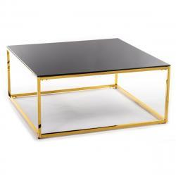 DekorStyle Konferenční stolek REKTA 100 cm zlatý/černý