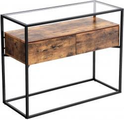Rongomic Konferenční stolek VASAGLE Indio hnědý