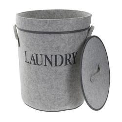 DekorStyle Koš na prádlo Laundry šedý