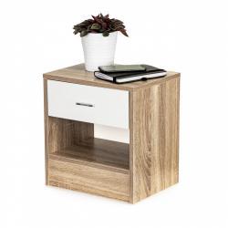 MODERNHOME Noční stolek Onni bílý/dub