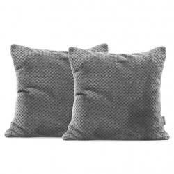 Povlaky na polštáře Decoking Xela šedé 45x45 - 2 kusy