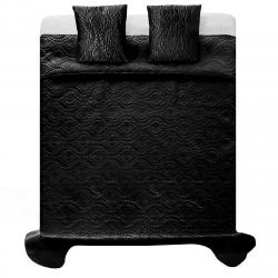 Tutumi Přehoz na postel Verona + 2 povlaky na polštář černá