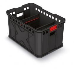 PlasticFuture Přepravní box X BLOCK PRO 53,6x35,4x30 cm černo-červený