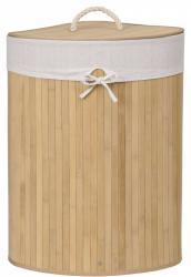 TZB Rohový bambusový koš na prádlo s víkem 60L hnědý