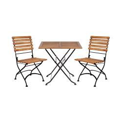 PARKLIFE Set zahradního nábytku 2 ks židle a 1 ks stůl - hnědá/černá