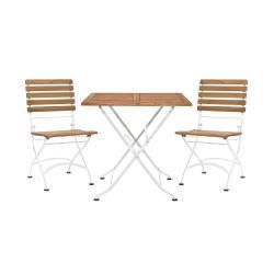 PARKLIFE Set zahradního nábytku 2 ks židle a 1 ks stůl - hnědá/bílá