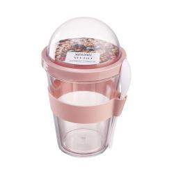 YO-GO Kelímek na jogurt s sebou 450 ml - pastelově růžová