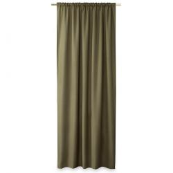 AmeliaHome Závěs Oxford Pleat khaki, 140 x 250 cm