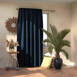 AmeliaHome Závěs Blackout Oxford Pleat indigo, 140 x 245 cm