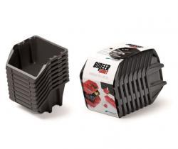 PlasticFuture Sada úložných boxů BINEER SHORT 8 ks 20,6x11,8x14,4 cm černé