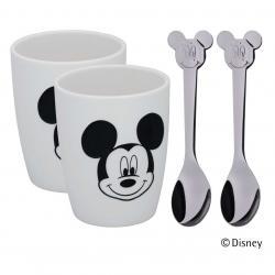 WMF Set dvou větších šálků se lžičkami Mickey Mouse