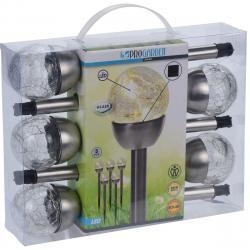 Sada solárních LED lamp Darell, 5 ks