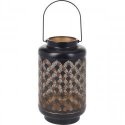Kovová LED lucerna s časovačem Cora, 15,5 x 28 cm, 18 LED, teplá bílá