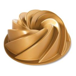 Nordic Ware Forma na bábovku spirála Heritage Bundt® zlatá