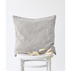 Stříbrošedý lněný povlak na polštář Linen Tales, 50x50cm