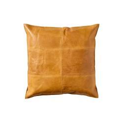 Oboutranný kožený polštář Södahl Simple, 50x50cm