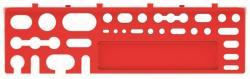 PlasticFuture Držák na nářadí BINEER SHELFS 2 ks 38,4x11,1 cm červený